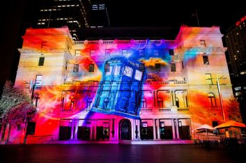 Vivid Sydney celebrating the Doctor's 50th anniversary! - Imgur