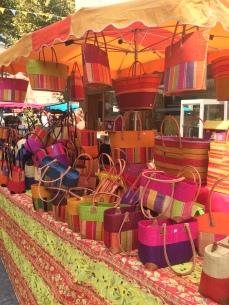 Orange market bags