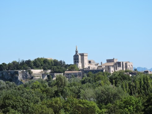 Papal palace from Villeneuve-les-Avignon