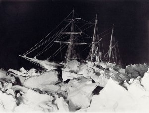 """Night ship"", photo by the expedition's official photographer Frank Hurley"